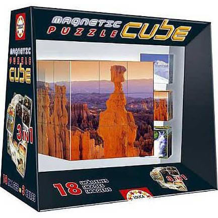 Educa 27-Piece Magnetic Block Puzzle Cube