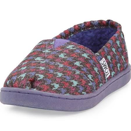TOMS Youth Glimmer Houndstooth Canvas
