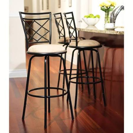 TMS Avery Adjustable Metal Barstools 3-Piece