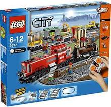 LEGO 3677 City Red Cargo Train Set