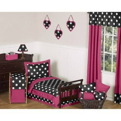 Hot Dot Toddler Bedding Set 5 Piece by