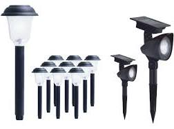 ezsolar 12-Pack Black Solar-Powered LED