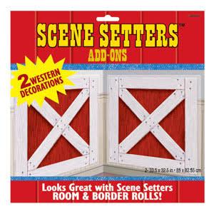 Barn Shutters Scene Setters (2 ct)