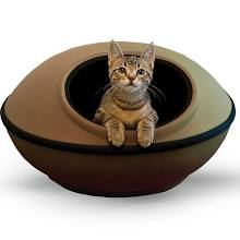 K&H Mod Dream Pod Pet Bed - 22'' x 22'' (Beige/Khaki)