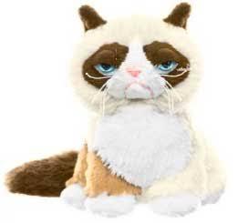 Grumpy Cat Ganz 5 Inch Plush Grumpy Cat