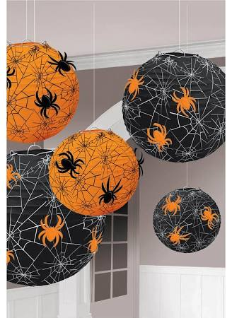 Spider Web Printed Paper Lanterns