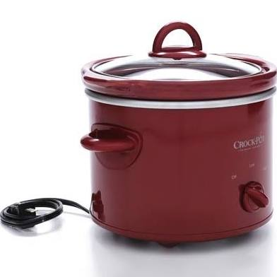 Crock Pot Slow Cooker Red 2 quart