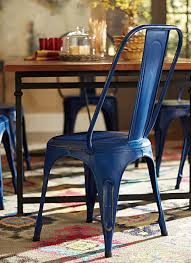 Amara Blue Metal Chair Set of 4