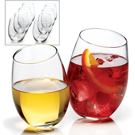 Anchor Hocking 8-piece Stemless Wine Glass
