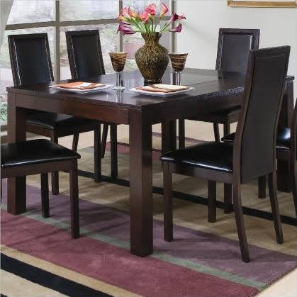 Dark Wood Kitchen Table Set
