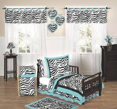 Blue Zebra Toddler Bedding Set