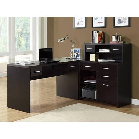 Monarch I 7018 Home Office Desk with L-Shape