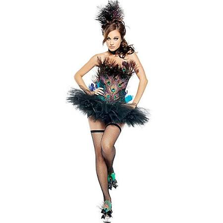 Womens Elite Sexy Peacock Adult Costume