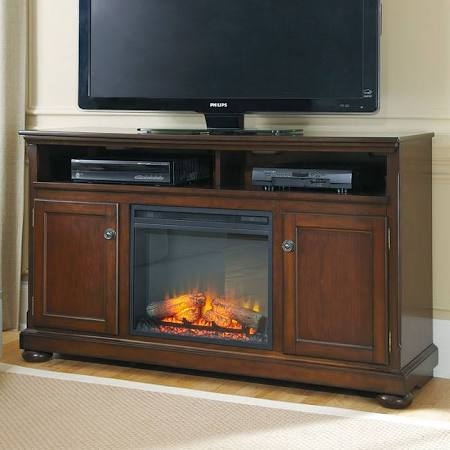 Porter 60 Inch TV Stand w/ Fireplace by