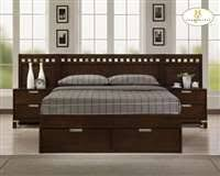 Bella 3-Piece King Platform Bed Bedroom