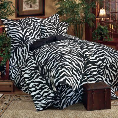 Karin Maki Zebra Black King 8 Piece Bed