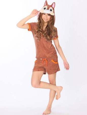 Cute Brown Squirrel Cotton Kigurumi Costumes