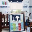 Bedtime Originals by Lambs & Ivy - Hip Hop Snoopy 3pc Crib Bedding Set Value Bundle