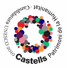 Logo apoyo candidatura 'castells' (castillos)