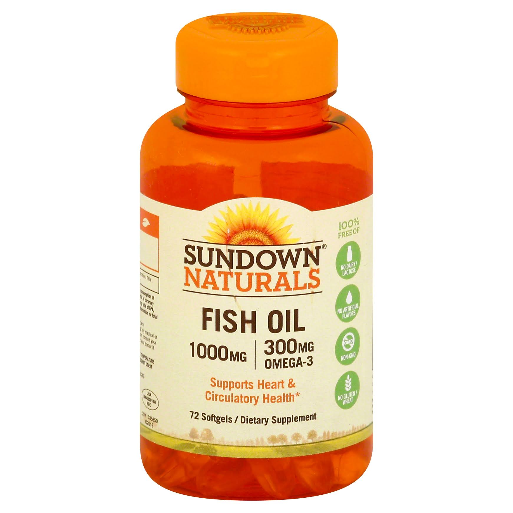 Sundown Naturals Fish Oil Supplement - 1000mg, 72ct