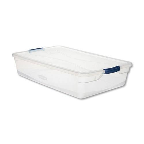 Rubbermaid Latching Lid Storage Tote - 41 Qt
