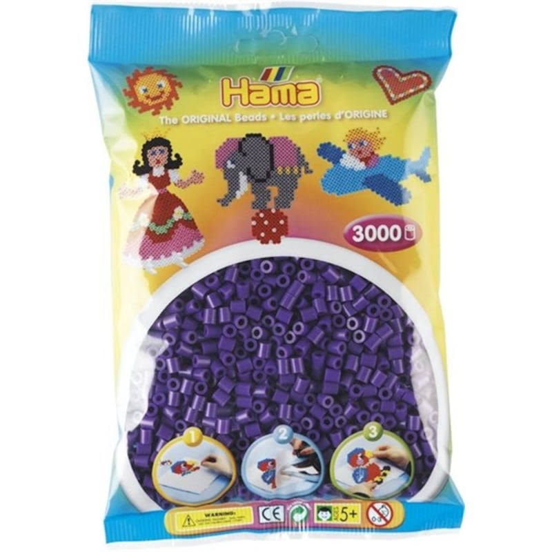 Hama Beads Midi 201-07 Purple - 3000 Pcs