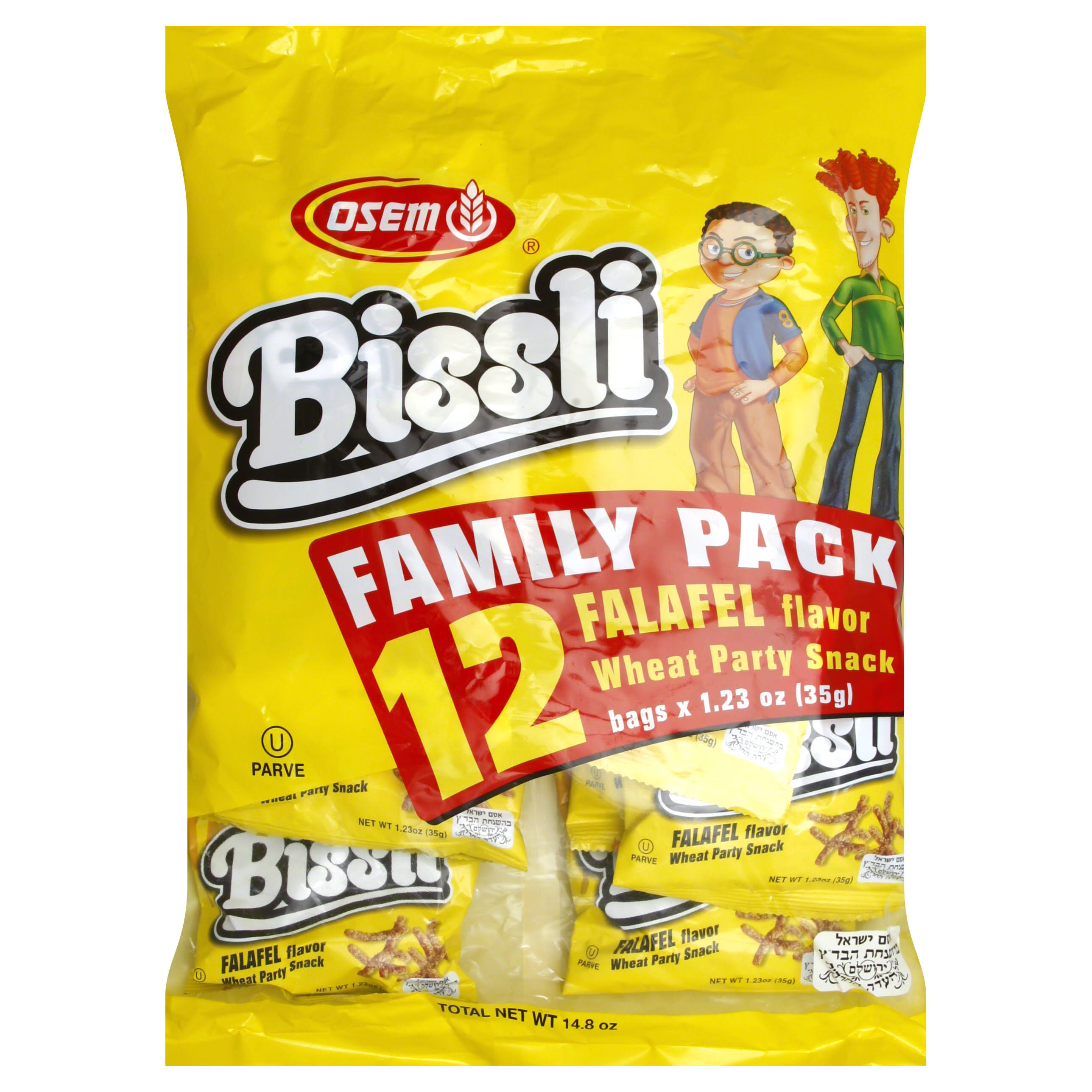Osem Bissli Family Pack Falafel Flavoured Wheat Snack - 35g, 12pk