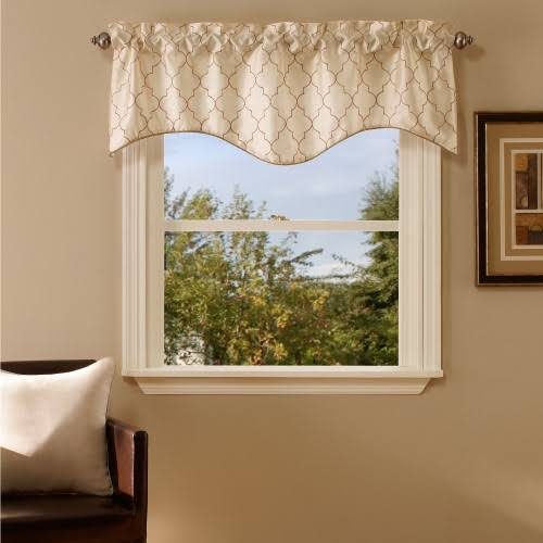 Stylemaster Hudson Embroidered Lined Valance with Cording