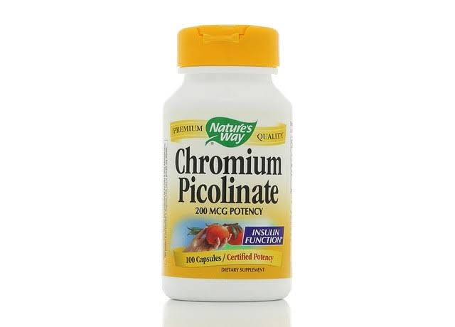 Nature's Way Chromium Picolinate, 200 mcg, Capsules - 100 count