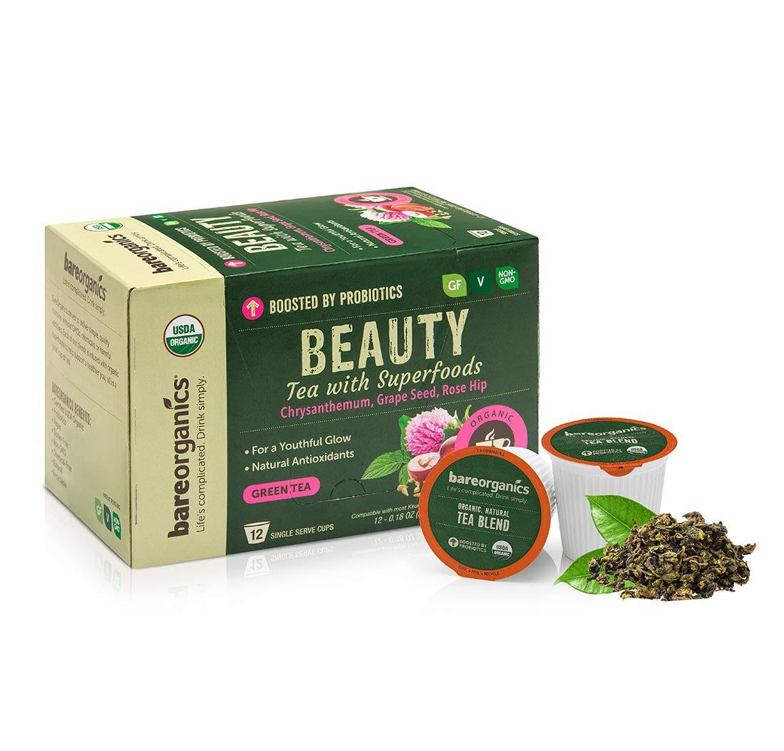 BareOrganics Beauty Tea K-Cups 12 ct