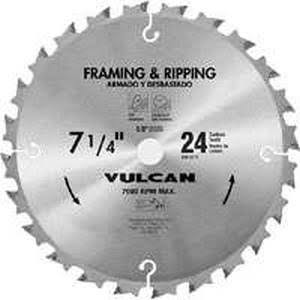"Vulcan 416021OR Thin Kerf Design Circular Saw Blade, 7-1/4"" Dia"