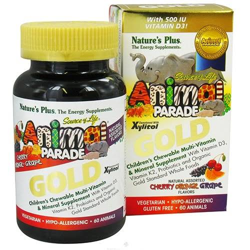 Nature's Plus Animal Parade Gold, Children's Chewable Multi-Vitamin