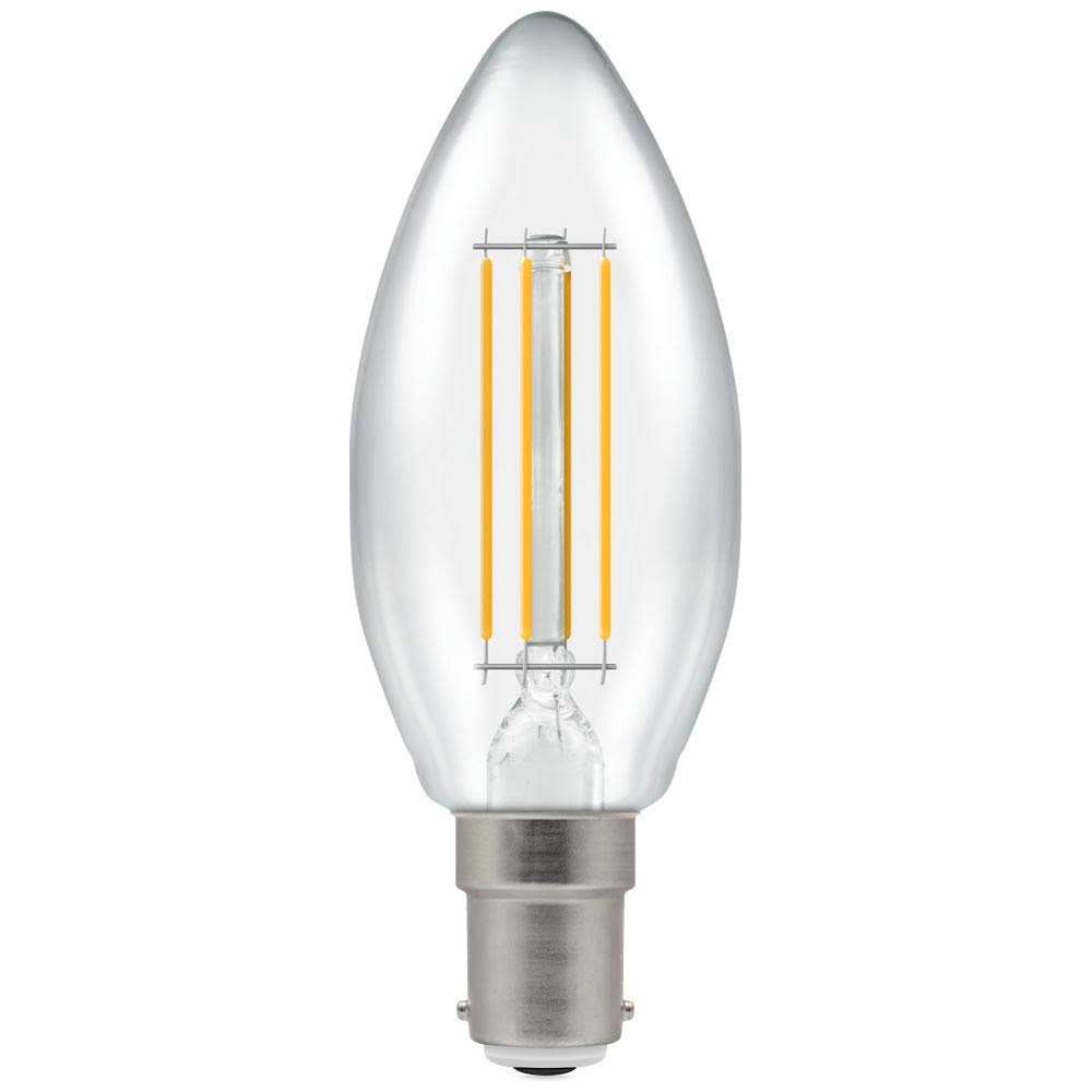 Crompton B15 Dimmable LED Filament Candle - Warm White, 5W