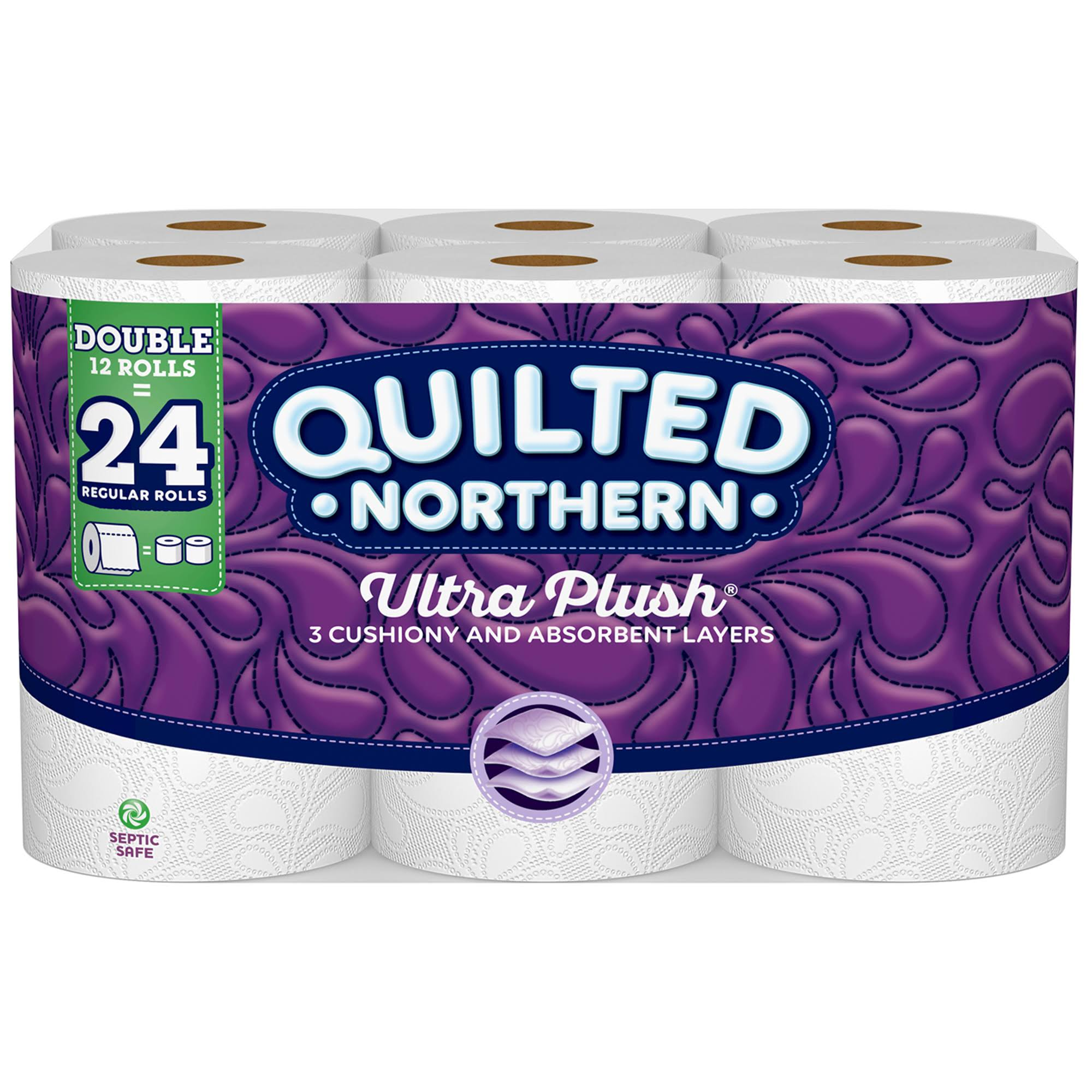 Quilted Northern Ultra Plush Toilet Paper, Double Rolls - 12 count