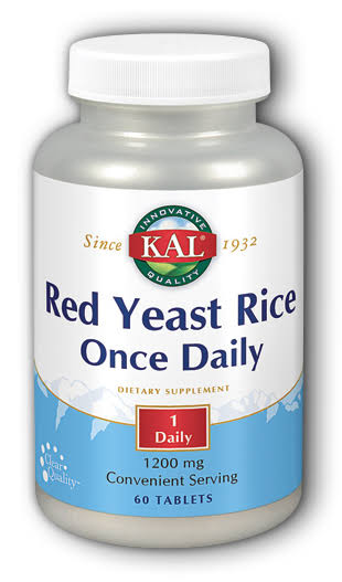 Kal Once Daily Red Yeast Rice Dietary Supplement - 60 Tablets