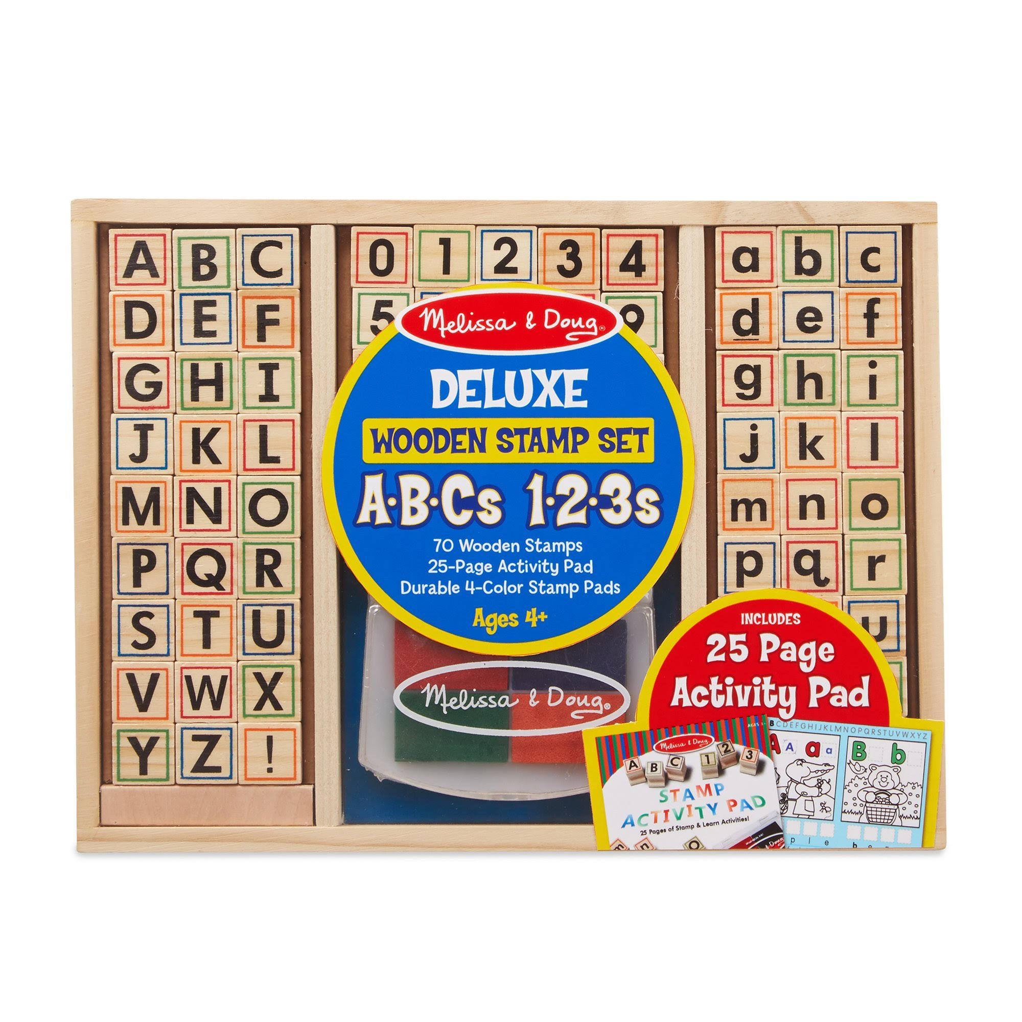Melissa and Doug Wooden ABC Activity Stamp Set - 71pcs