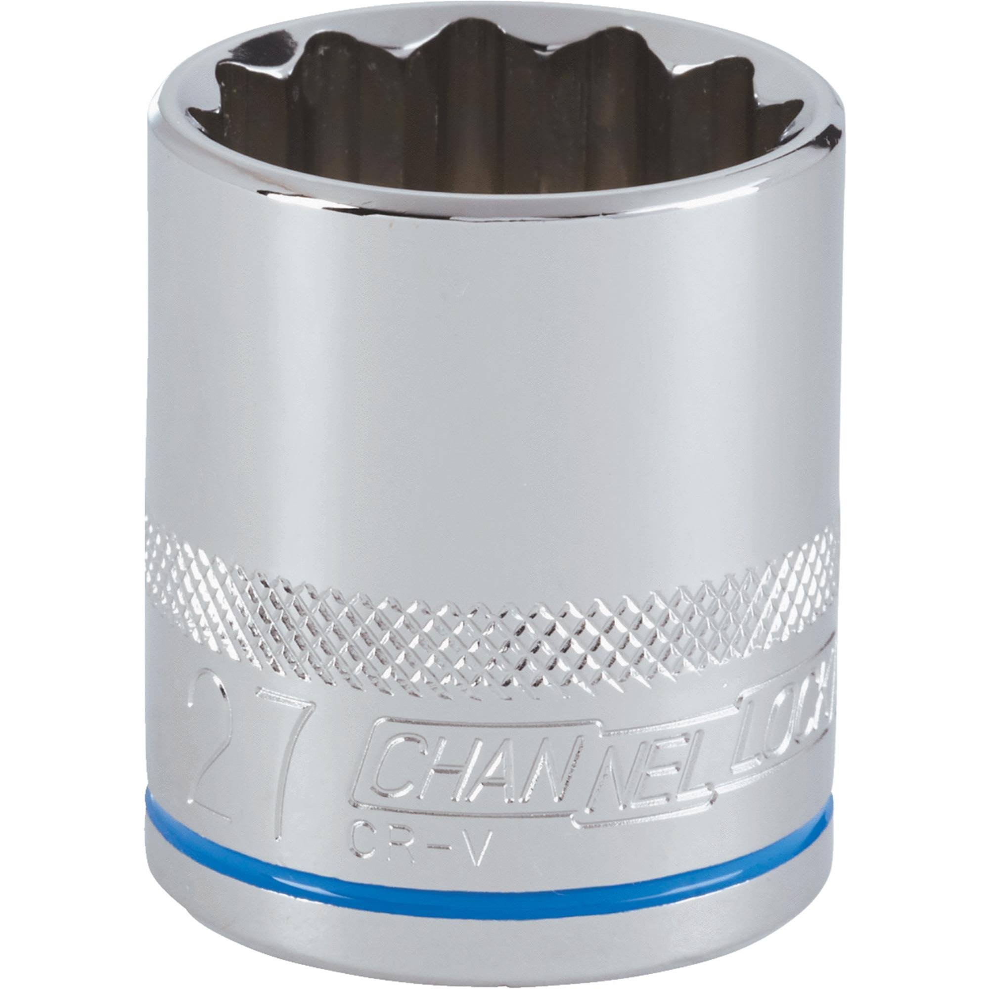 Channellock Products Drive Socket - 27mm, 1/2""
