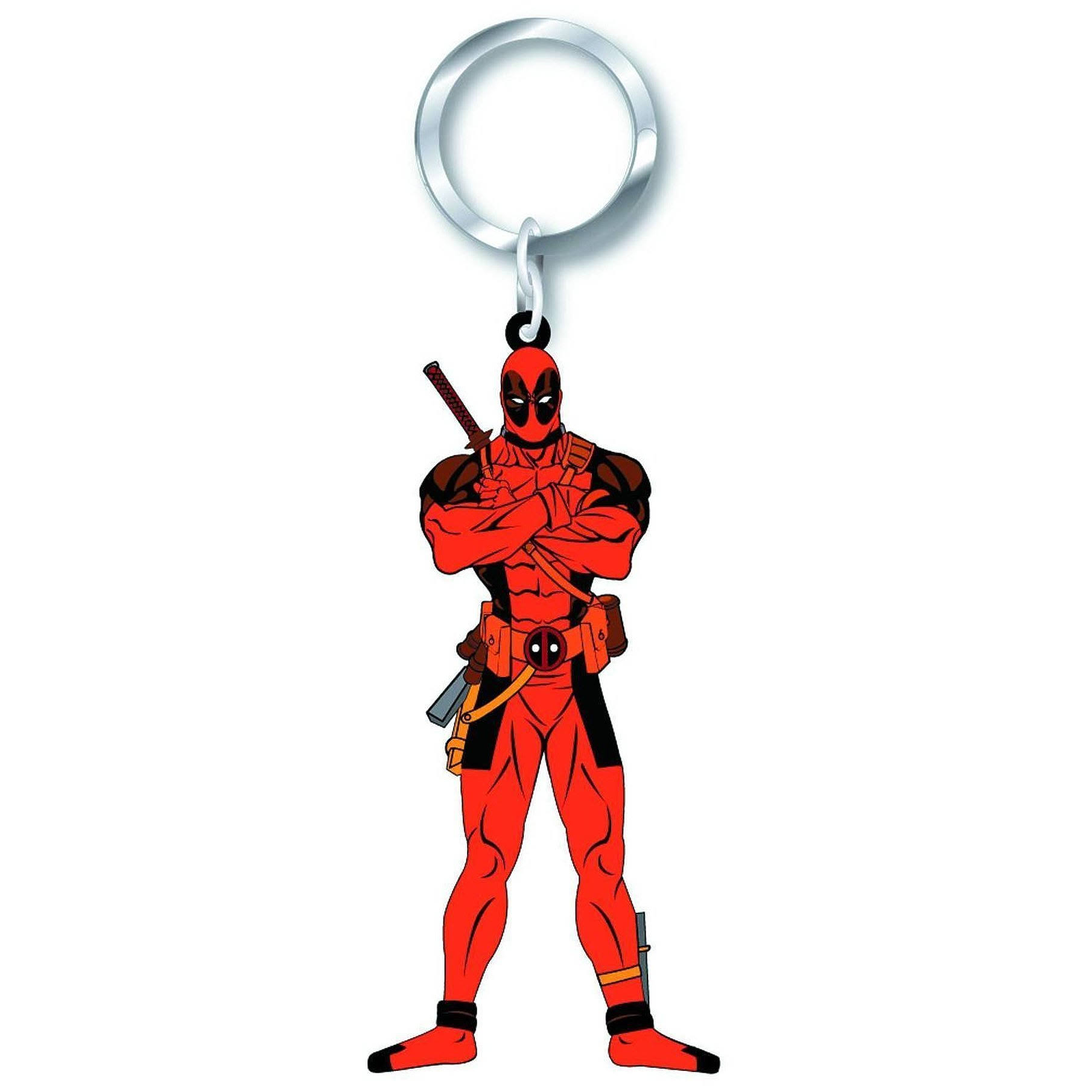Marvel Soft Touch PVC Key Ring - Deadpool