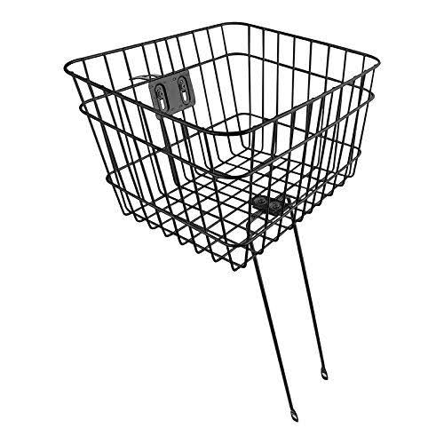 "Sunlite Front Wire Fixed Bicycle Basket - Black, 14.5"" x 12"" x 9.5"""