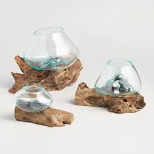 Driftwood Christmas Trees For Sale by Driftwood And Blown Glass Bowl World Market