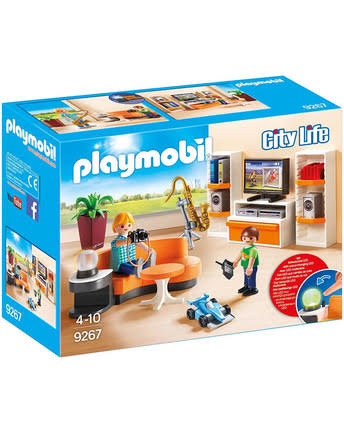 Playmobil 9267 City Life Dollhouse Living Room Furniture Set