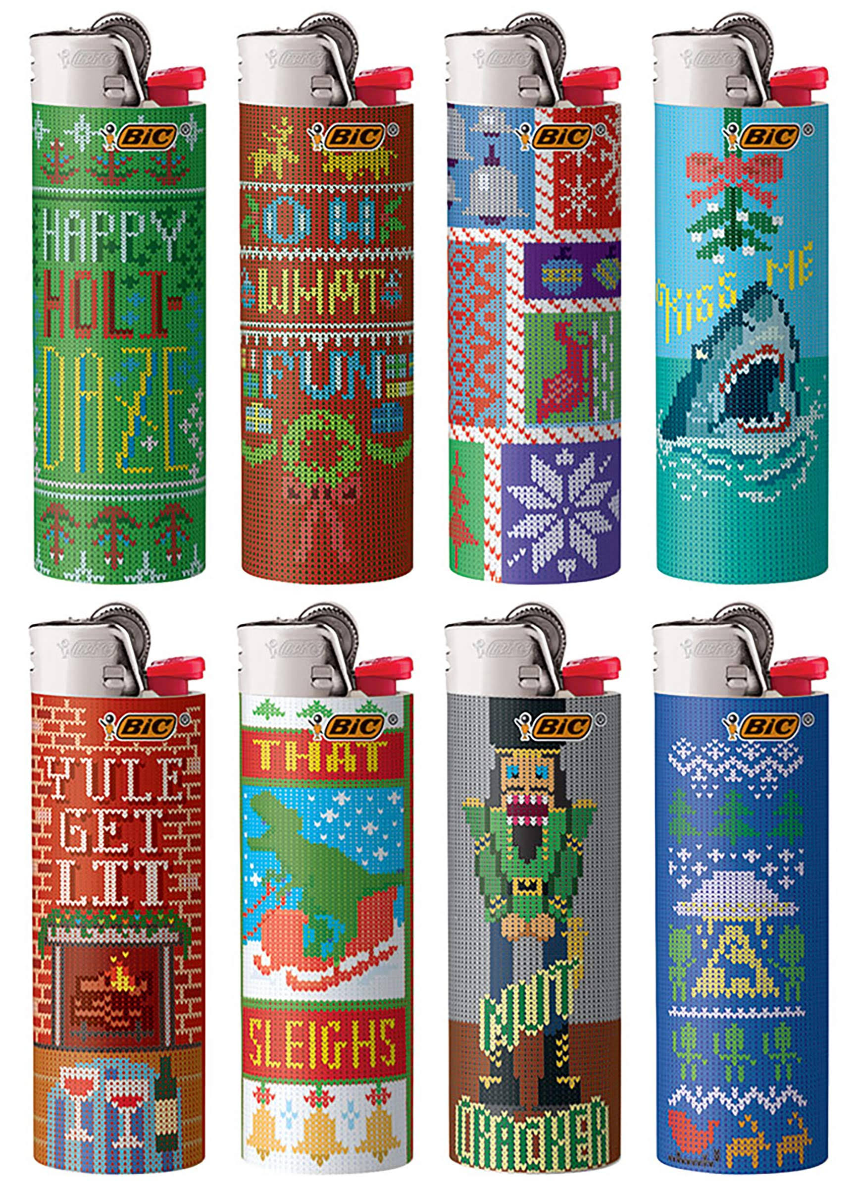 Bic Special Edition Holiday Series Pocket Lighter, Assorted Designs