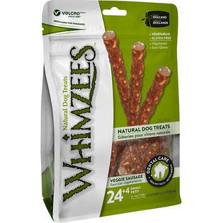 Whimzees Small Veggie Sausage Dog Treats - 28ct