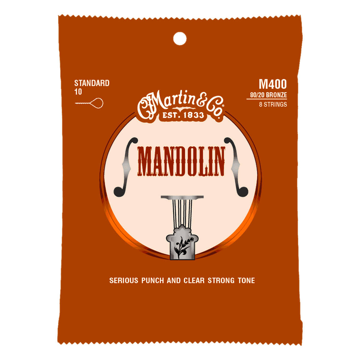 Martin M400 Standard Gauge Strings - 80/20 Bronze, .010 to .034
