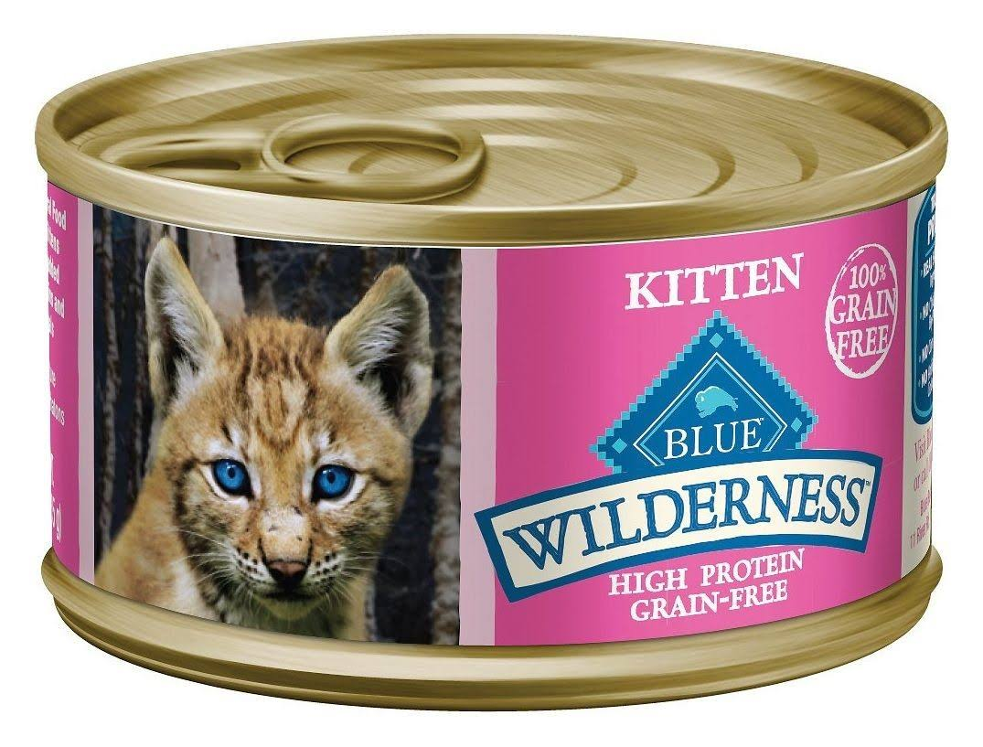 Blue Buffalo Wilderness Kitten Canned Cat Food - 3 oz, Salmon