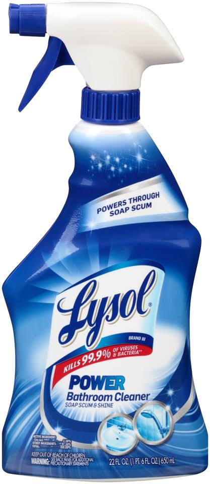 Lysol Bathroom Cleaner, Power - 22 fl oz