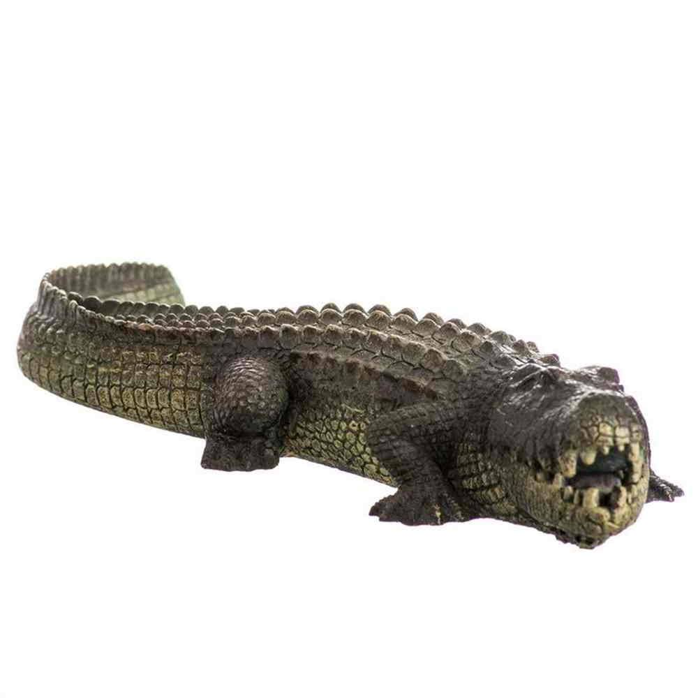 Blue Ribbon Pet Bubbling Aquarium Ornament - Alligator