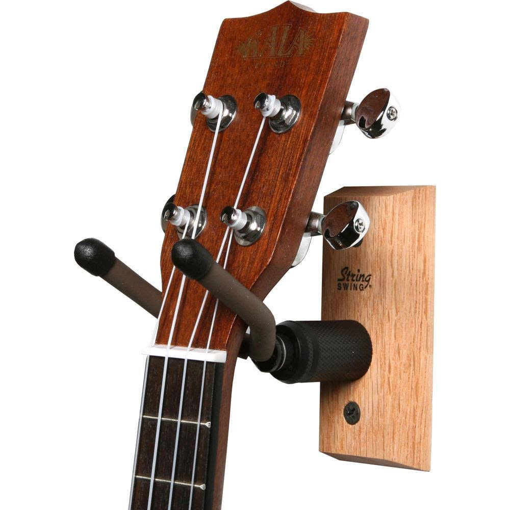 String Swing Home and Studio Ukulele Hanger - Oak Wood, Small, Medium, Large, X-Large, 2X-Large