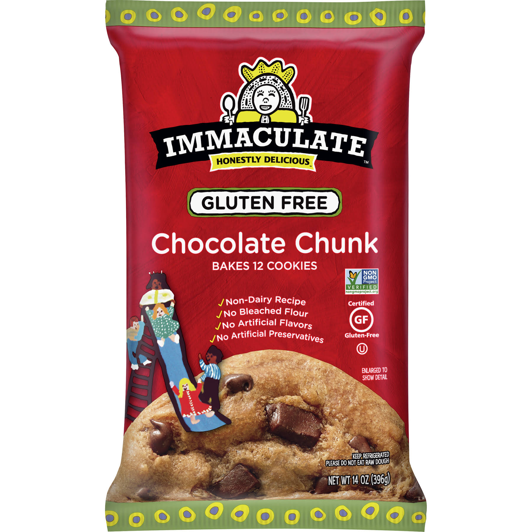 Immaculate Baking Ready to Bake Refrigerated Chocolate Chunk Cookies - 14oz