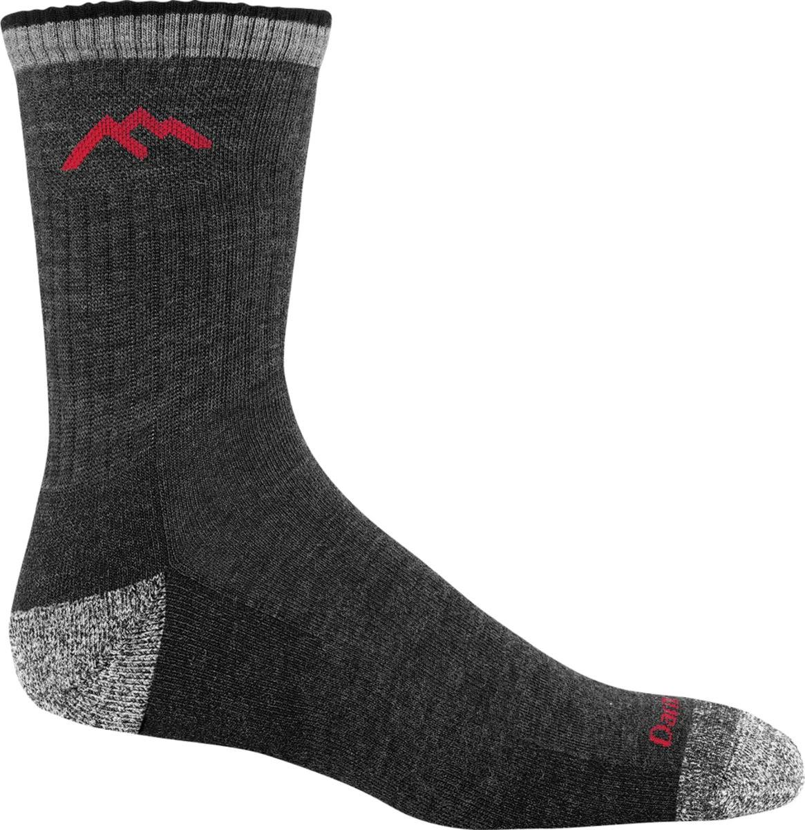 Darn Mens Tough Hiker Micro Crew Cushion Socks - Black, Medium